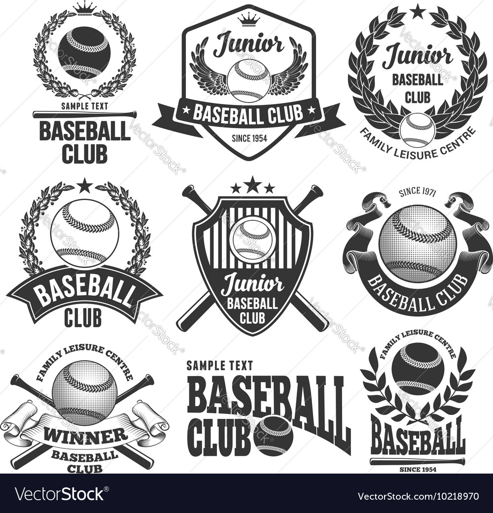 Baseball logo set