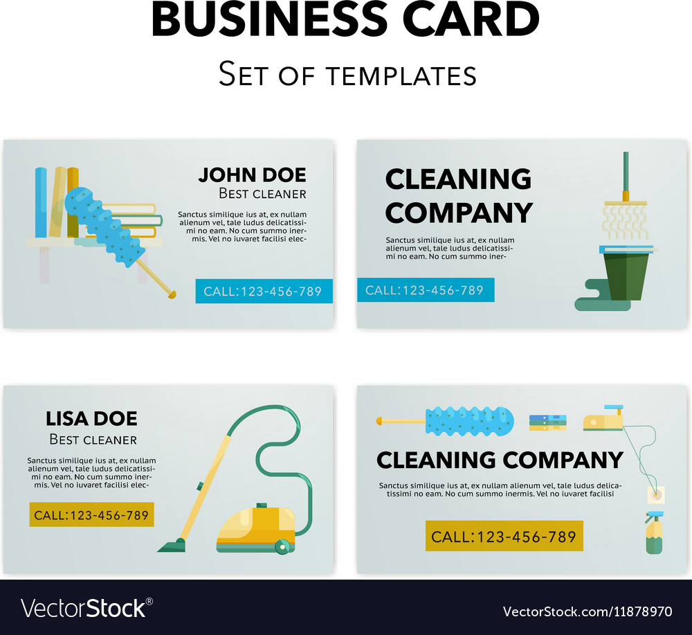 Cleaning company business cards set royalty free vector cleaning company business cards set vector image colourmoves