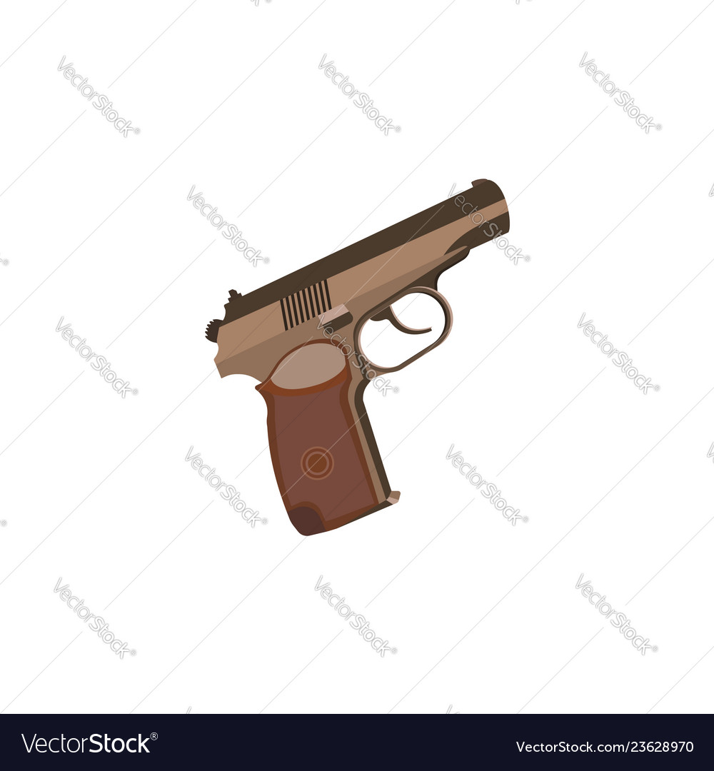 Color image pistol on a white background