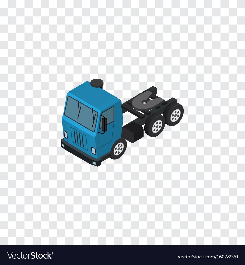 Isolated lorry isometric truck element c
