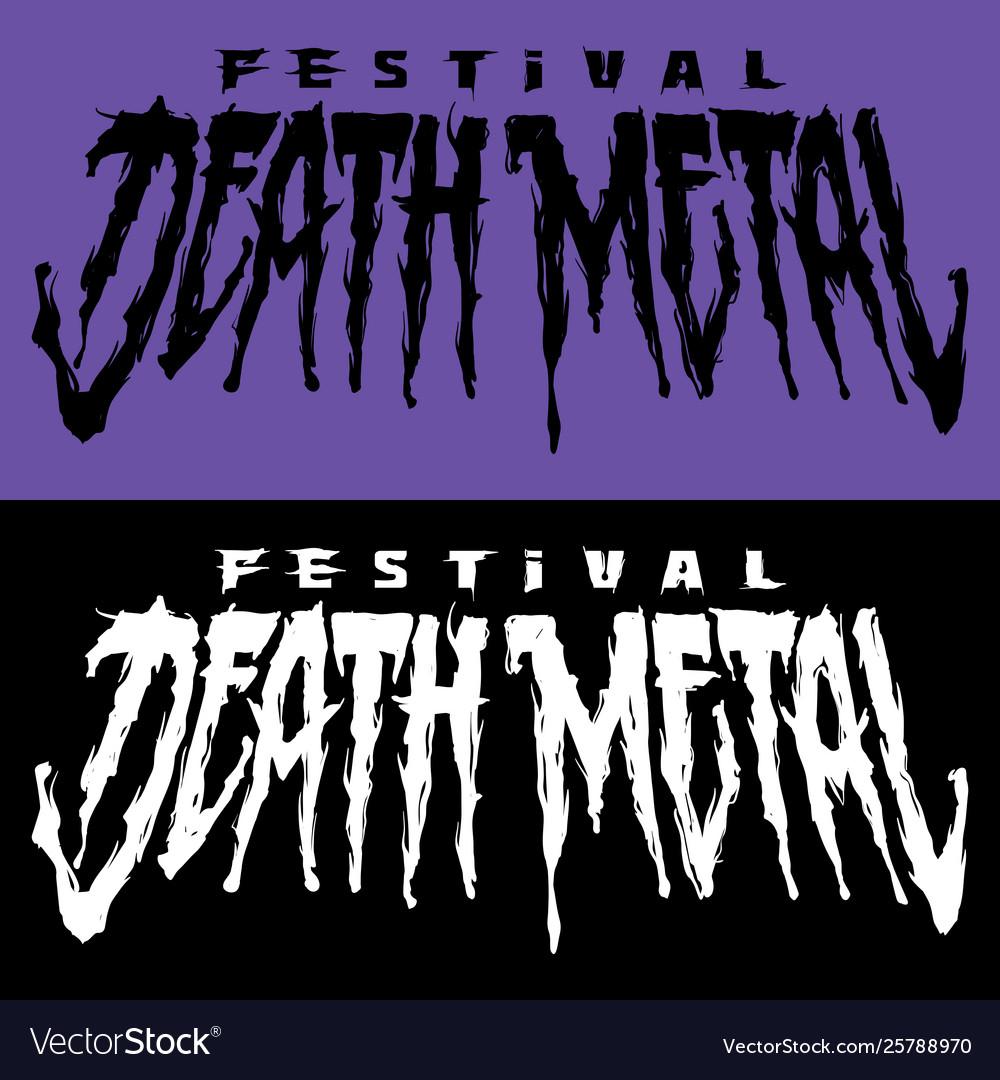Lettering death metal