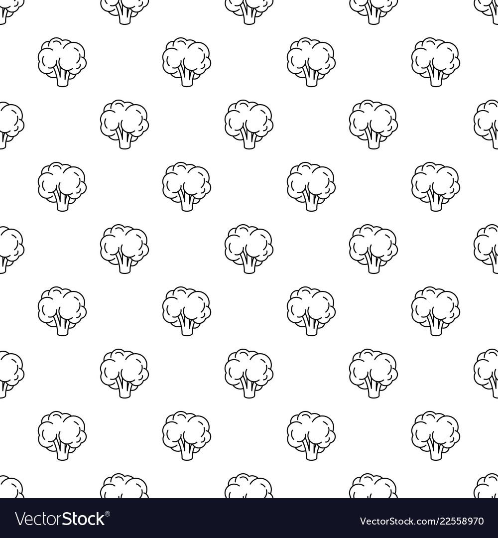 Natural broccoli pattern seamless