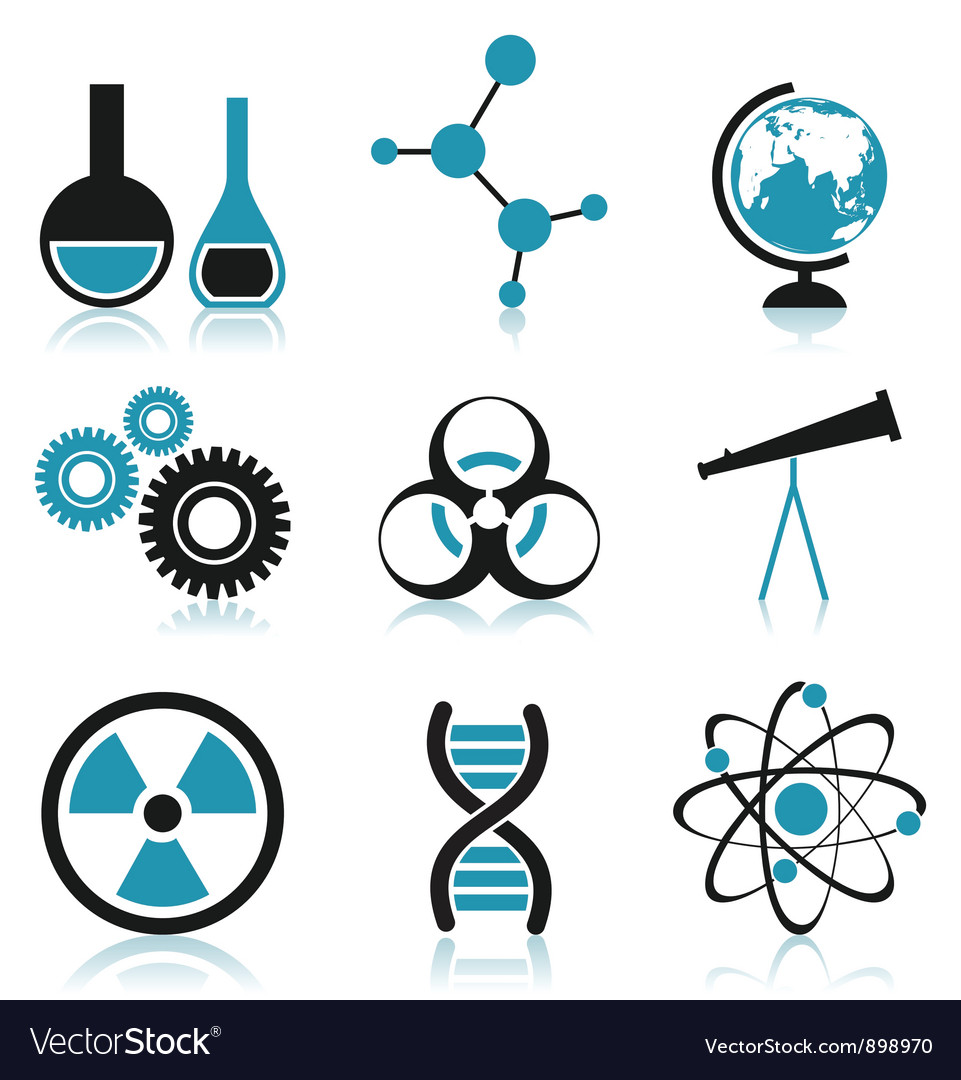 science icon royalty free vector image vectorstock vectorstock