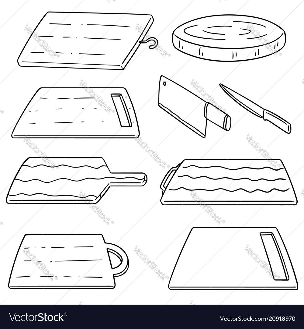 Set of cutting board