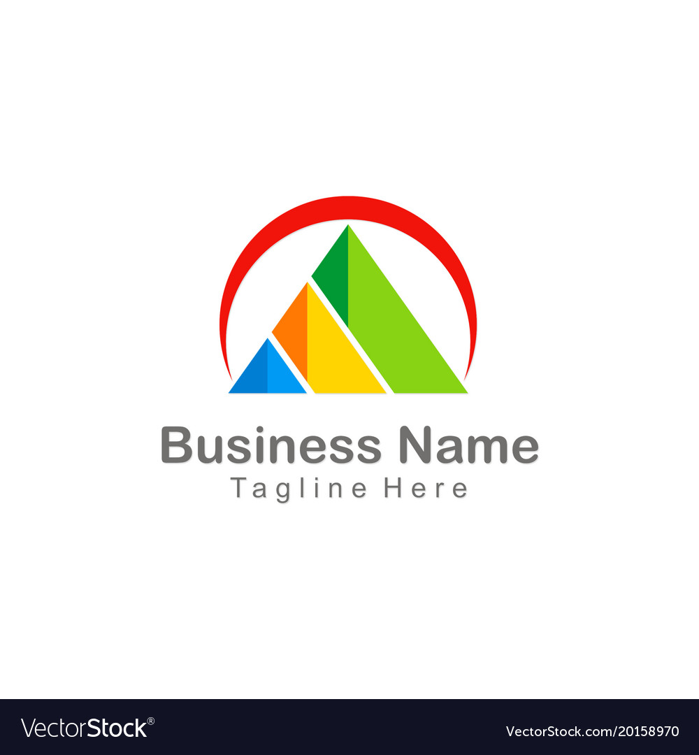 Triangle pyramid colorful company business logo