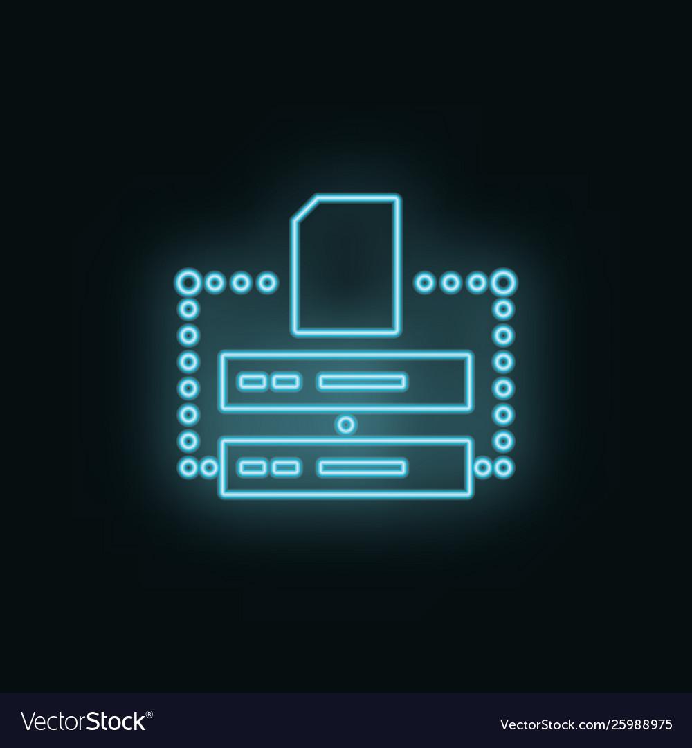 Database folder neon icon web development icon