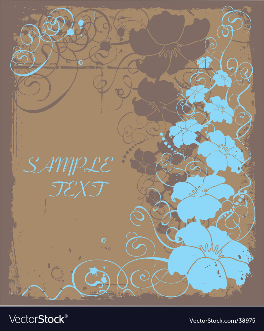 Floral copy space vector image