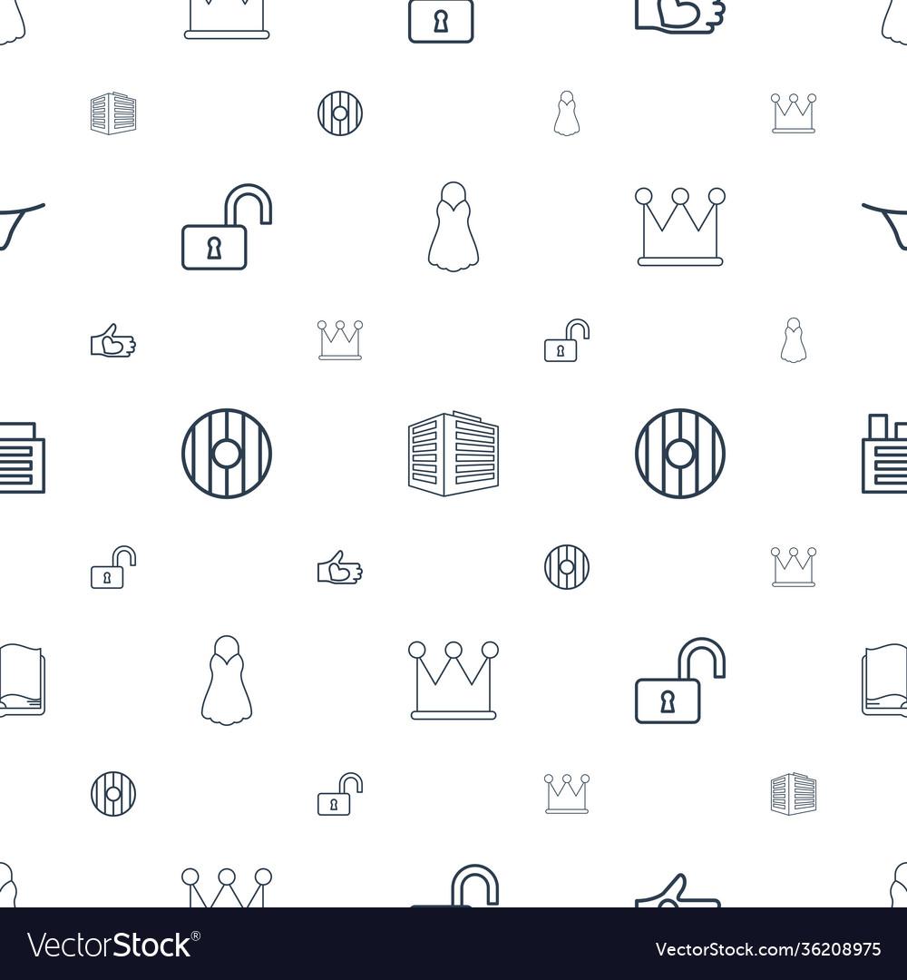 Shape icons pattern seamless white background
