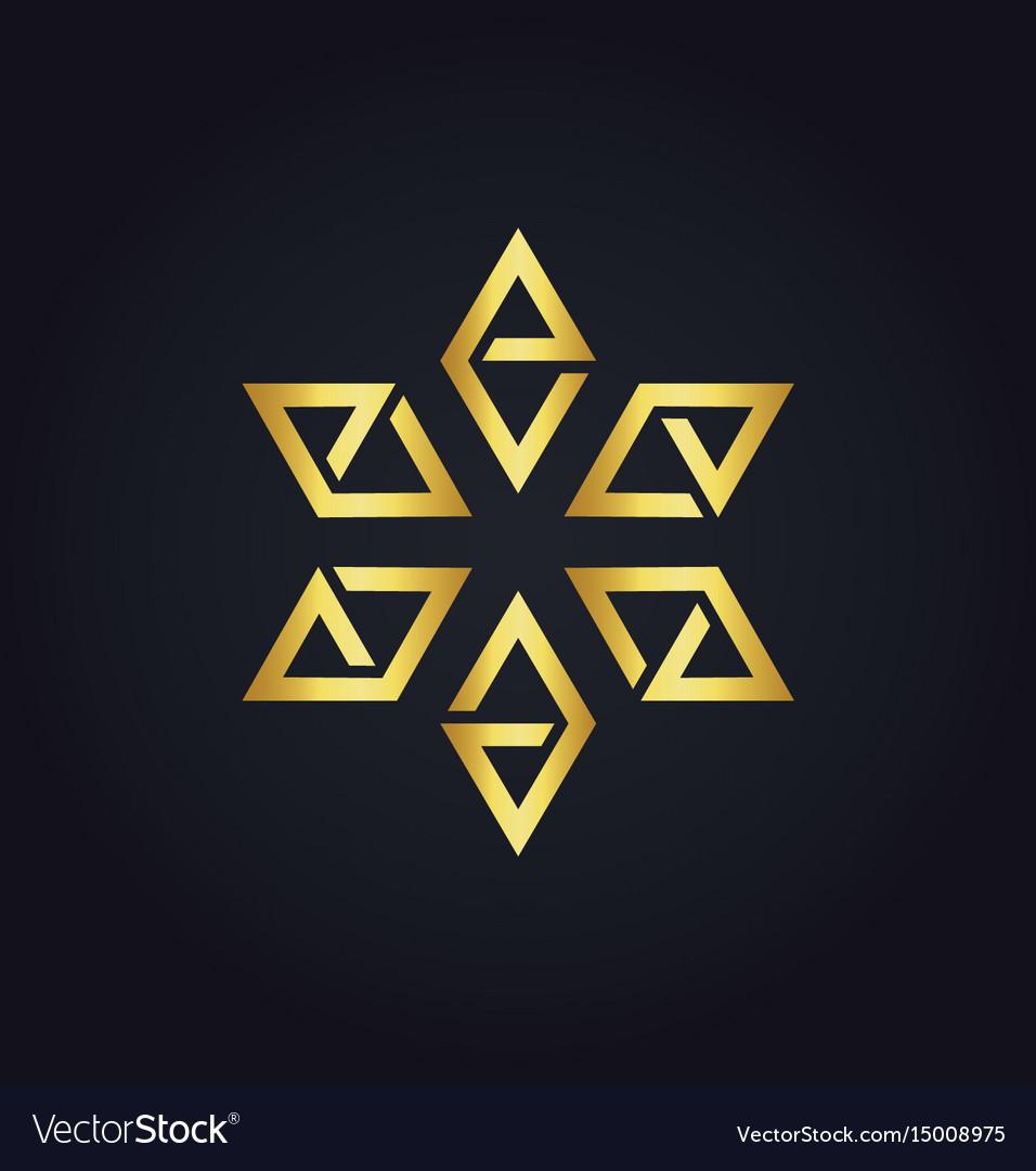 Star prism gold logo