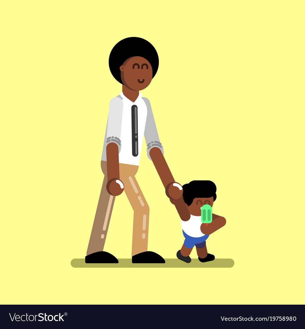 African american boy Royalty Free Vector Image