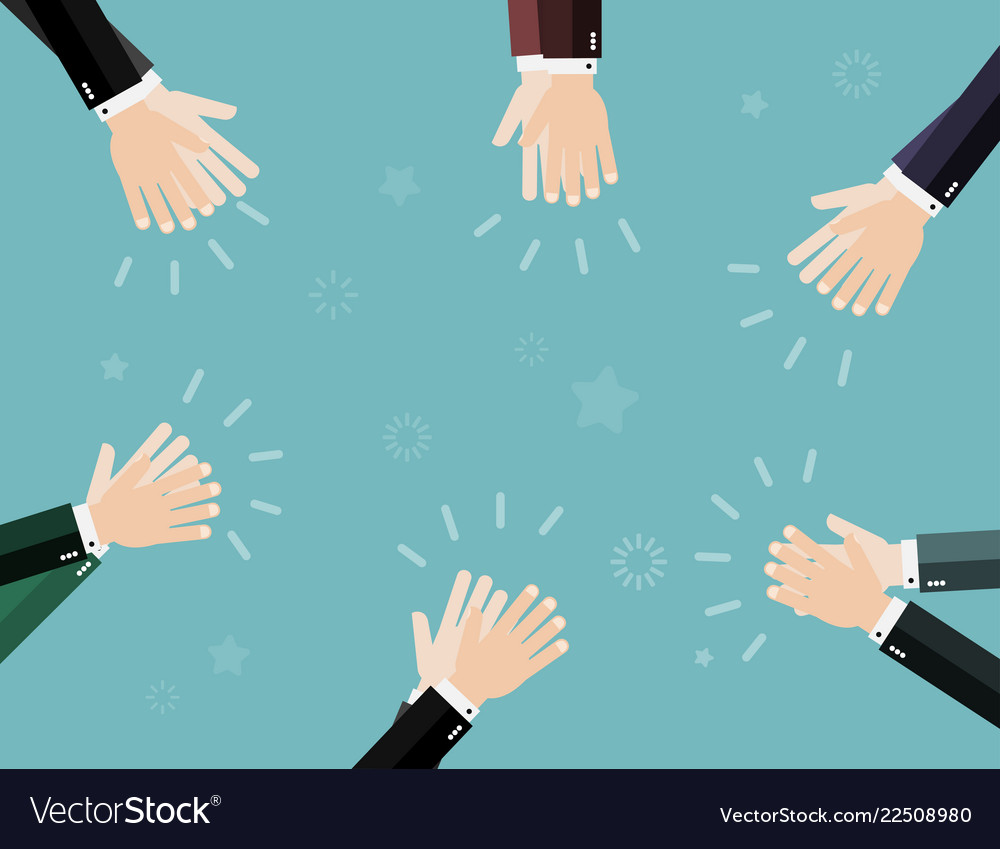 Applause clapping hands business concept