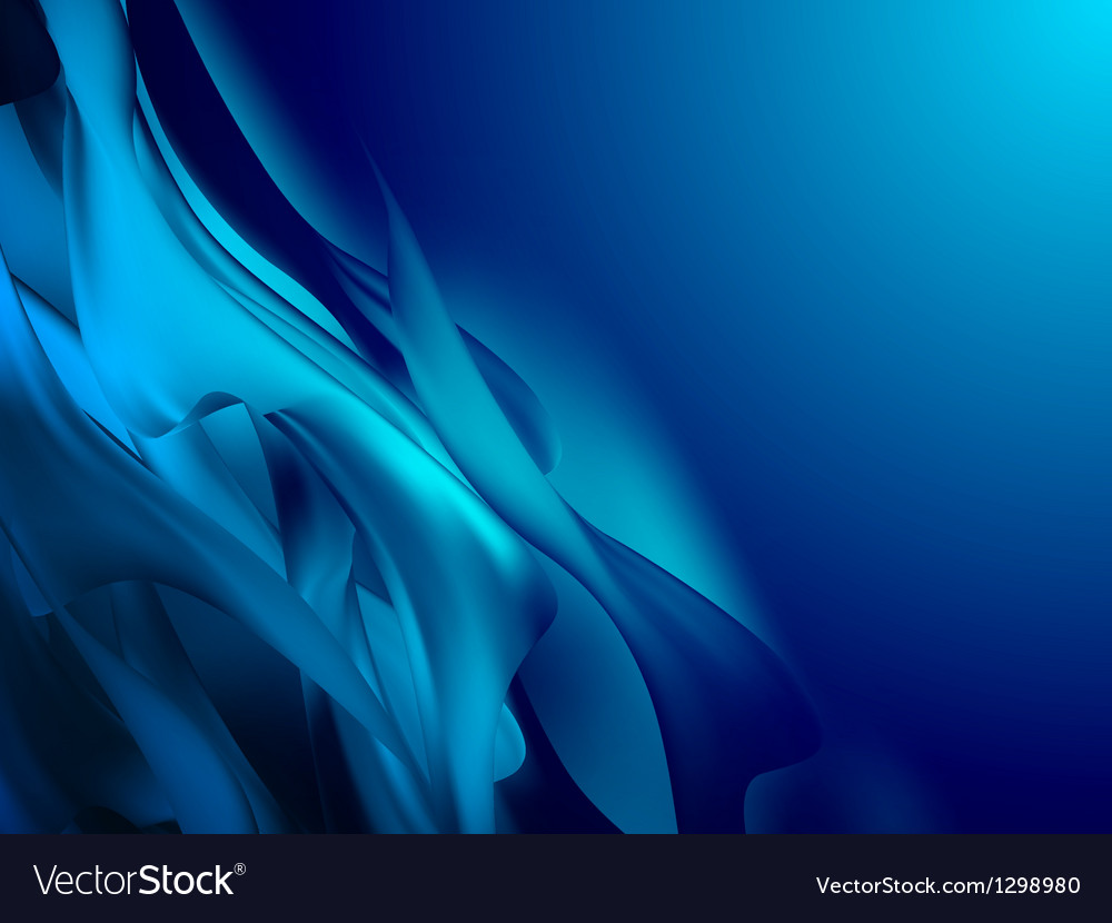 Blue abstract composition EPS 10 vector image