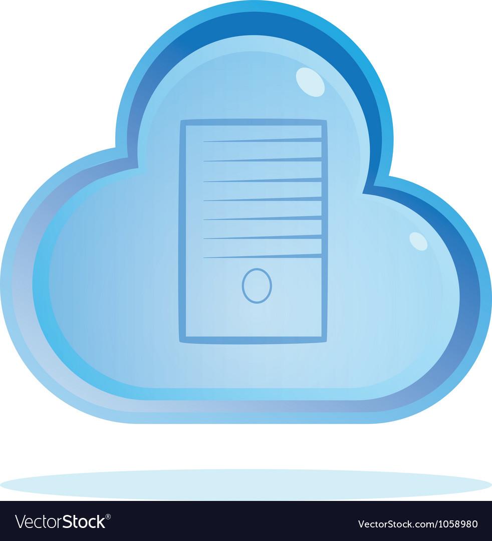Cloud server button