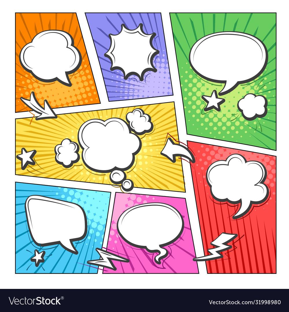 Comic book bubbles layout