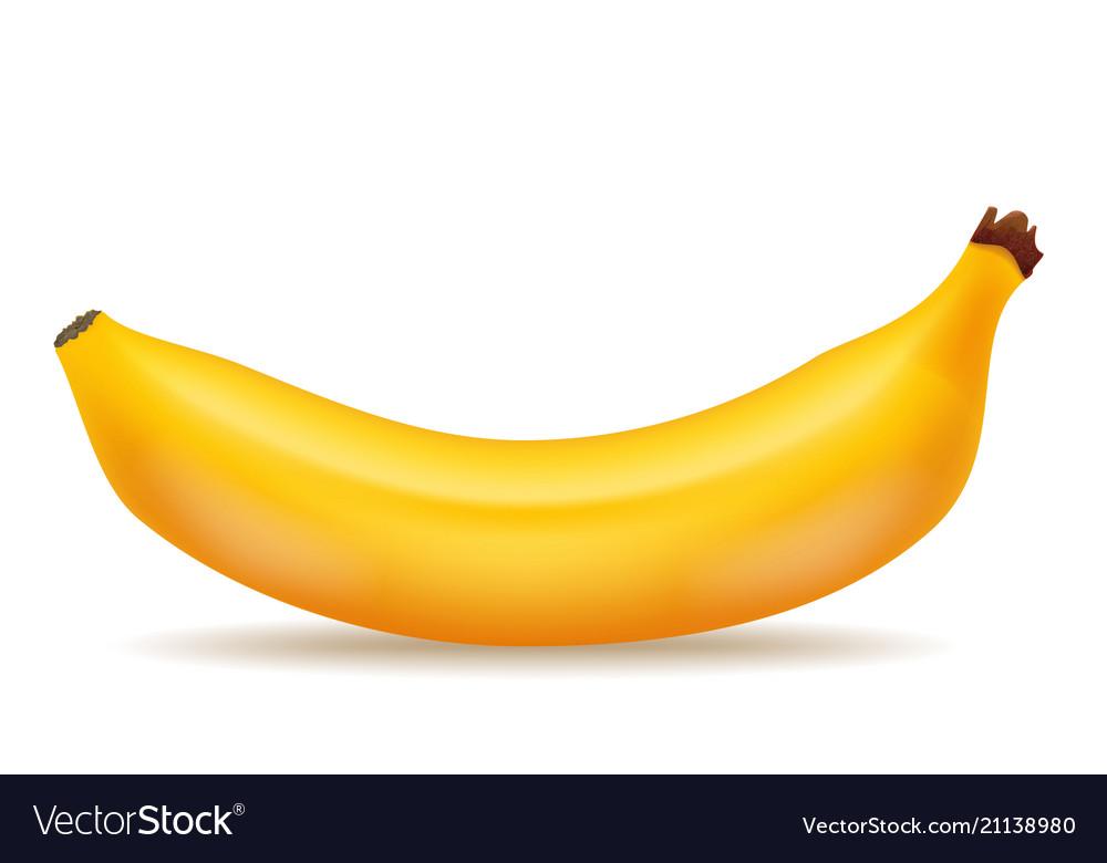 Good tasty banana realistic 3d food icon design