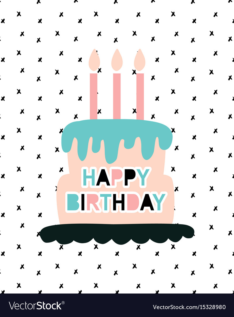 Happy birthday greeting card template Royalty Free Vector