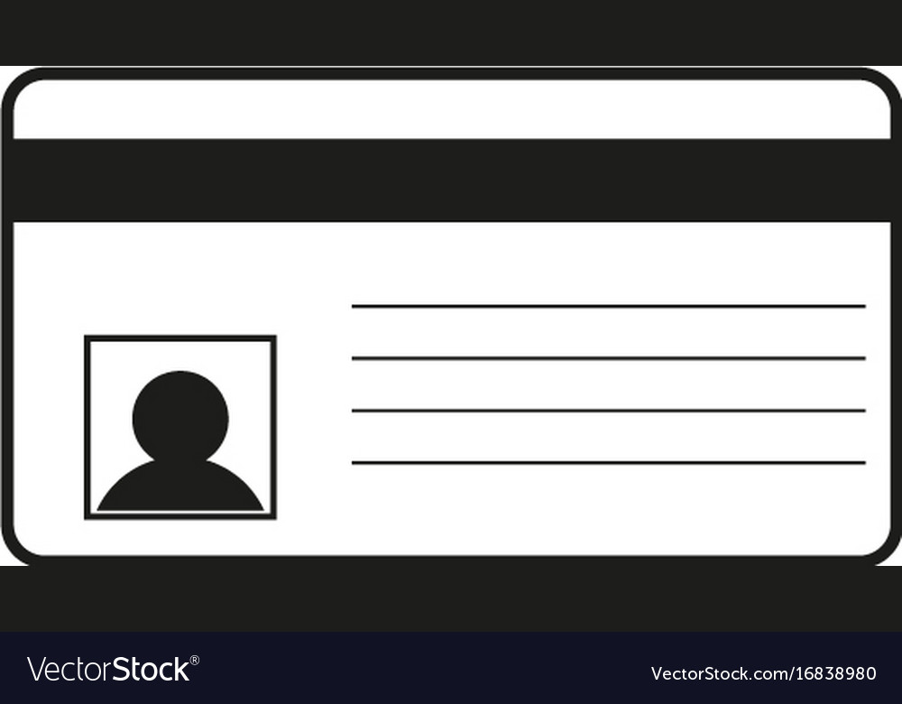 Id card sign black icon on