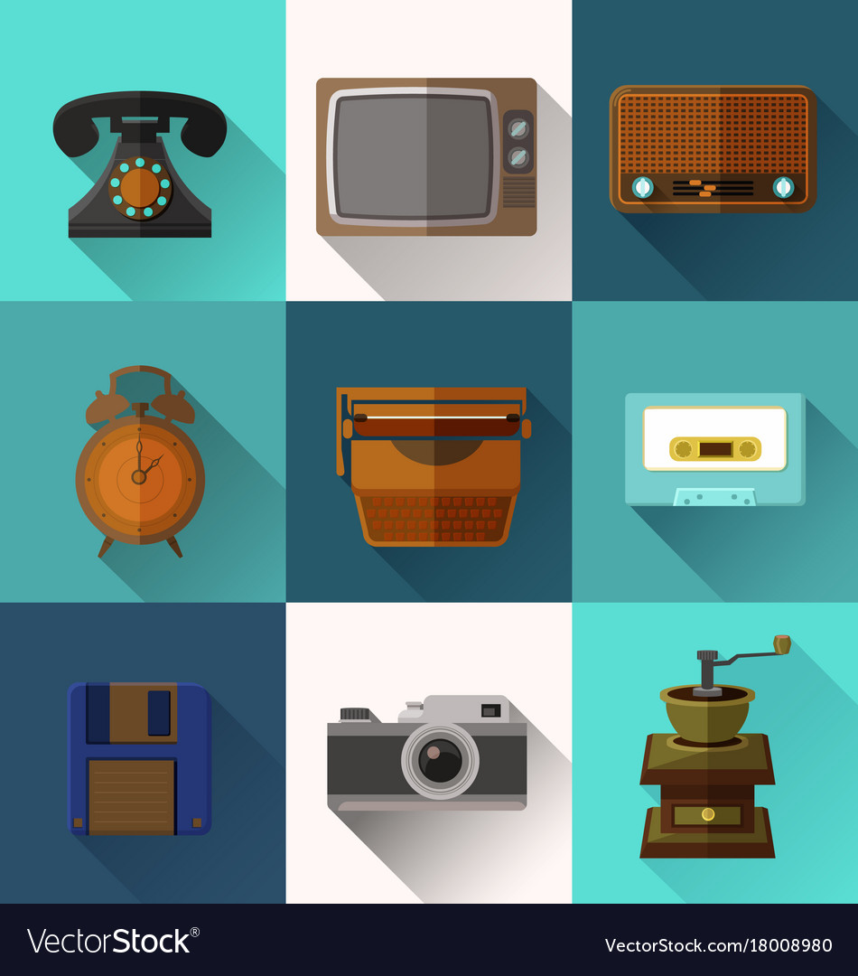Retro object icons