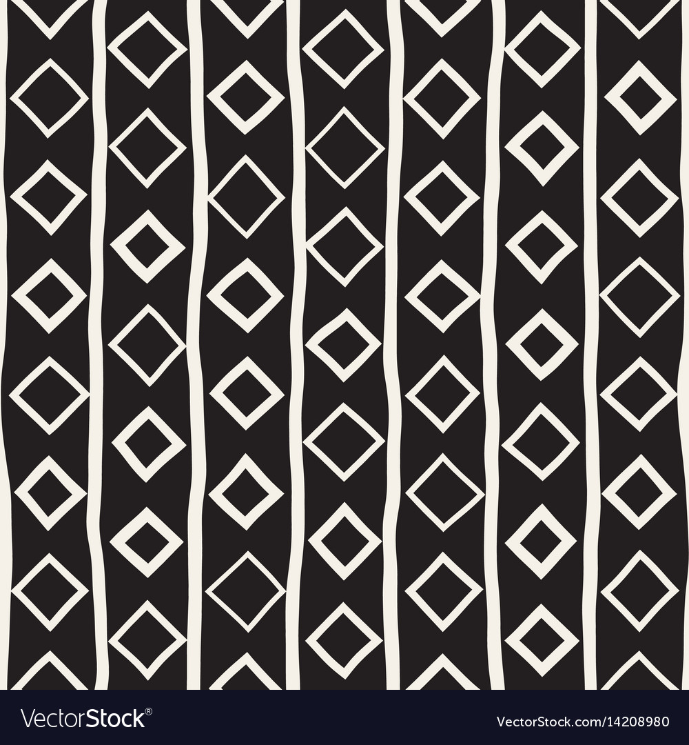 Seamless childlike pattern monochrome hand