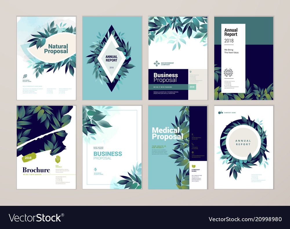Set of brochure and annual report design tempaltes