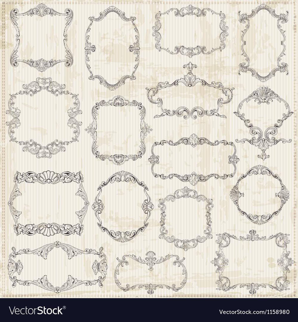 Vintage Frames and Calligraphic Design Elements