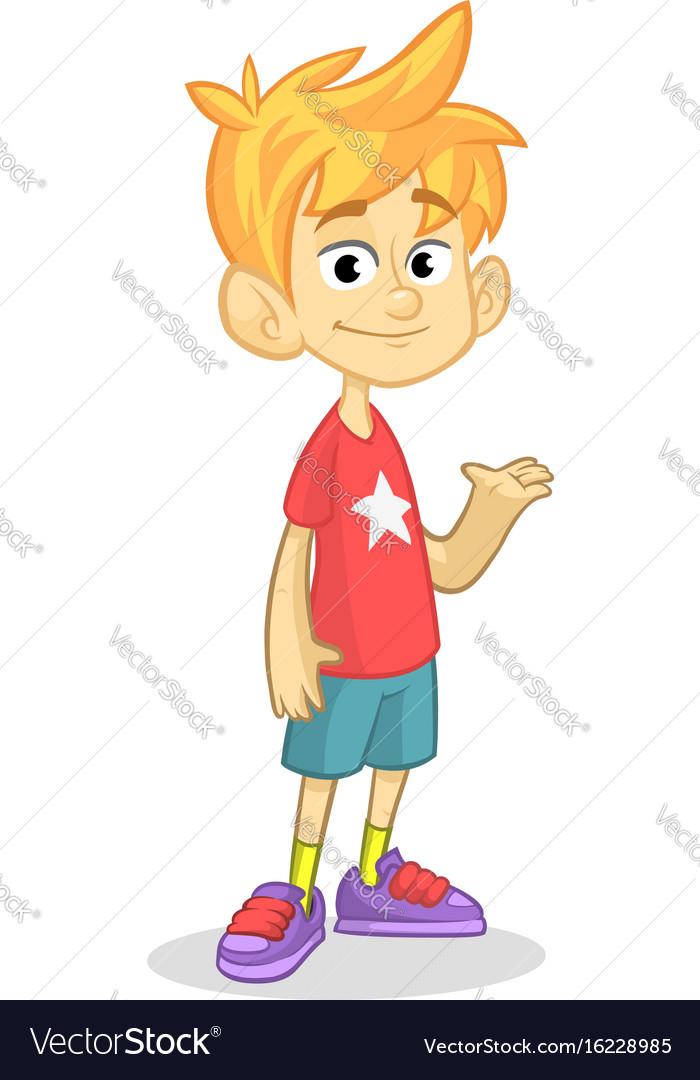 Cartoon funny boy vector image