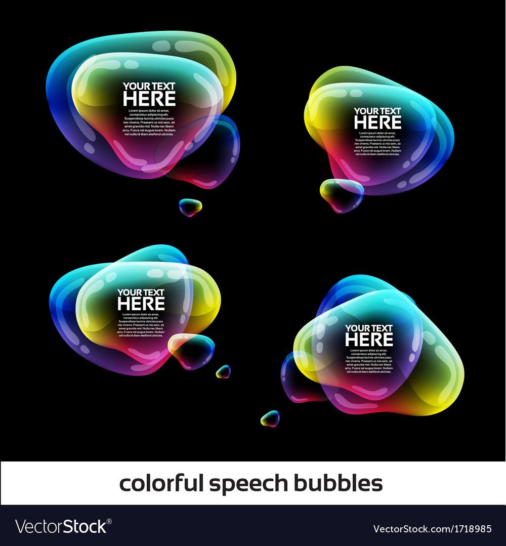 Glossy Speech Bubbles Design
