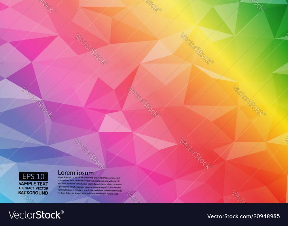 Rainbow color geometric triangular gradient