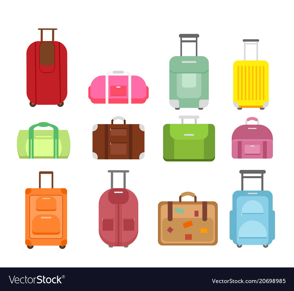 Set of different types bags