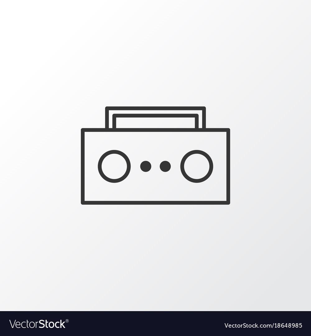 Tape icon symbol premium quality isolated