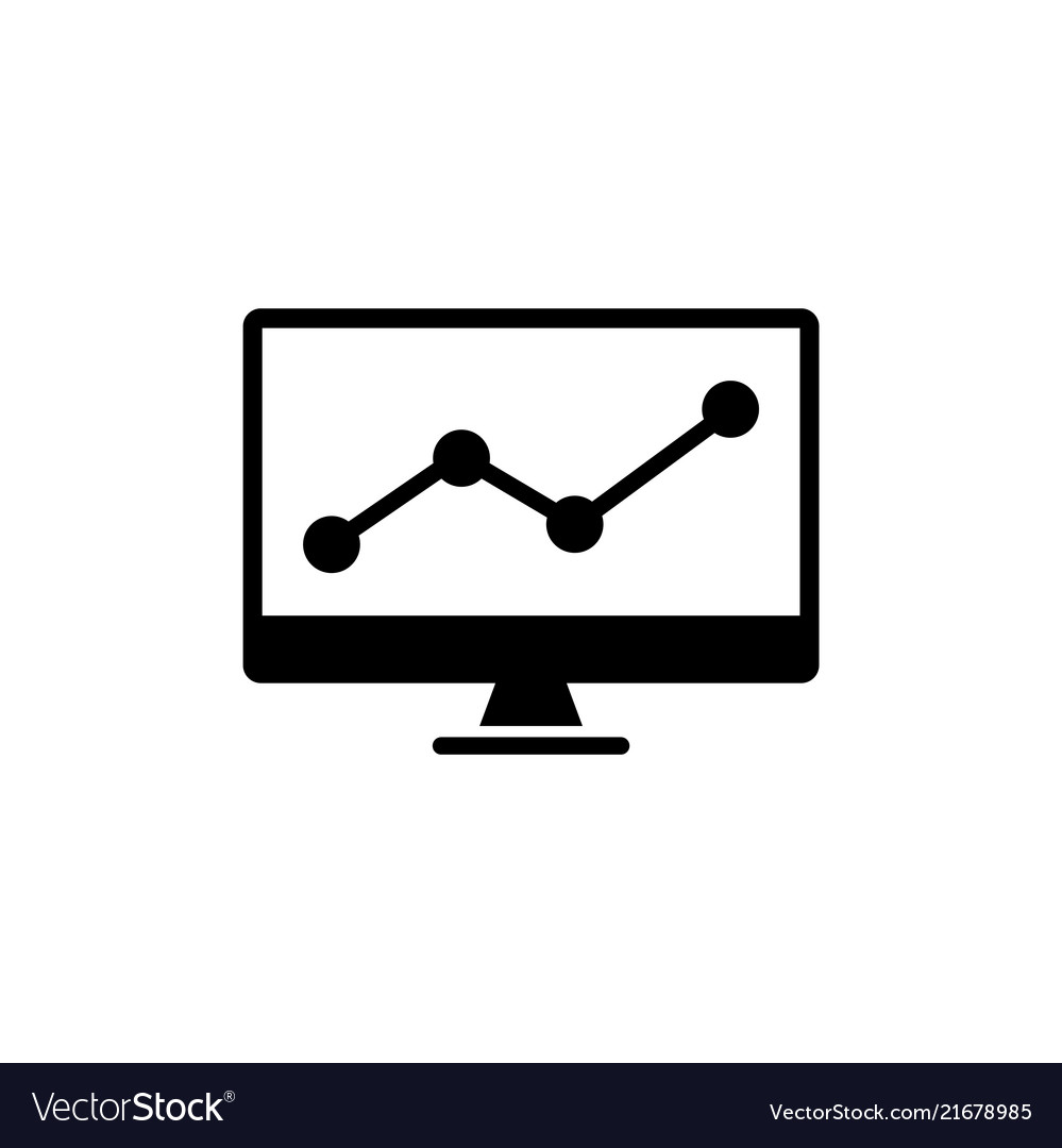Trading chart analyzing stock market flat