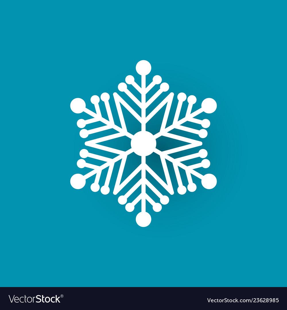 Winter symbol xmas flake new year and christmas