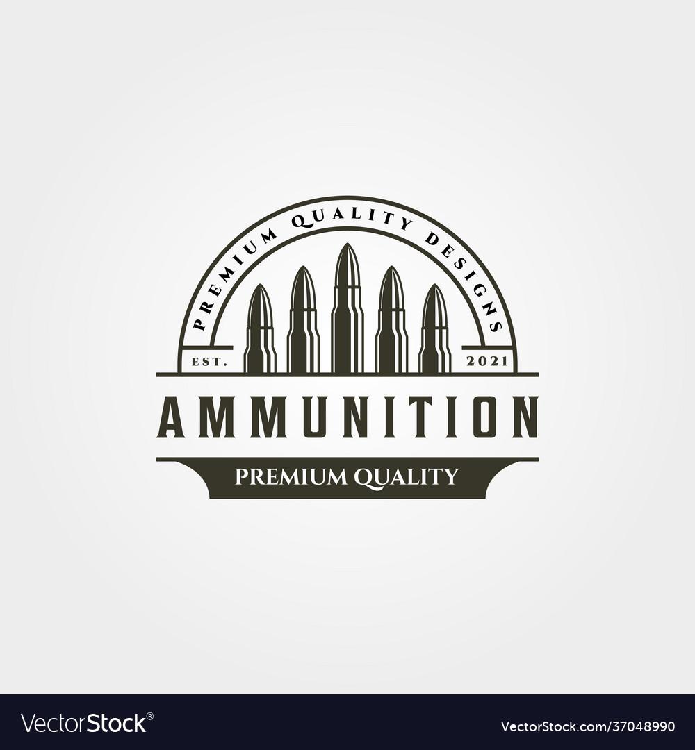Ammunition icon logo vintage symbol design