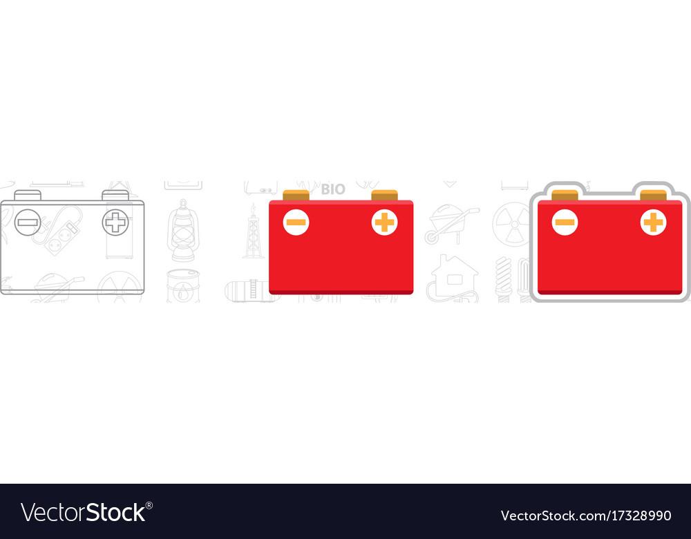 Car battery logo accumulator energy