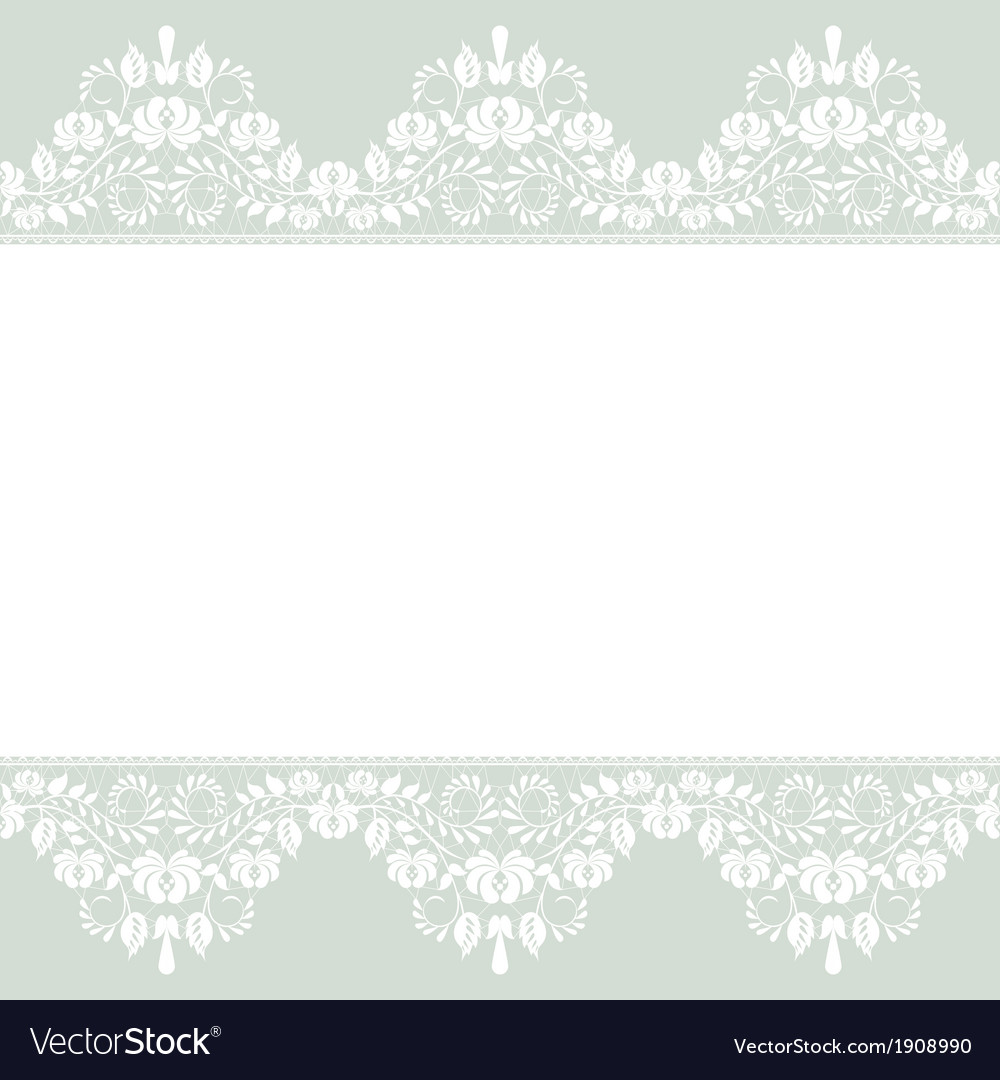 lace border on green background royalty free vector image
