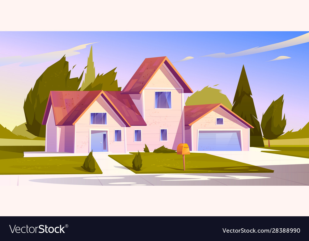 Suburban house residential cottage real estate