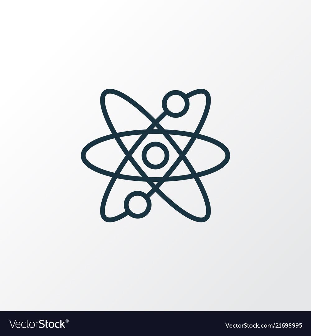 Atomic energy icon line symbol premium quality