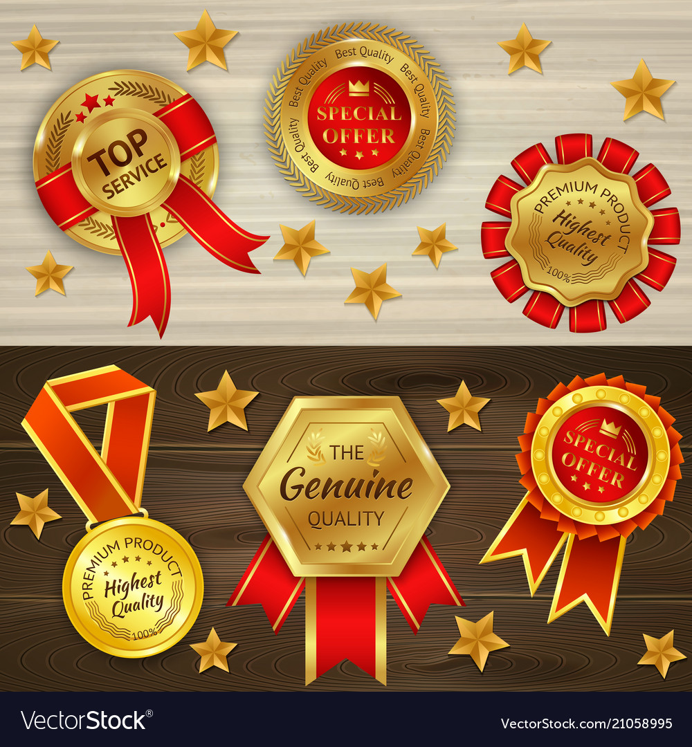 Awards realistic horizontal banners