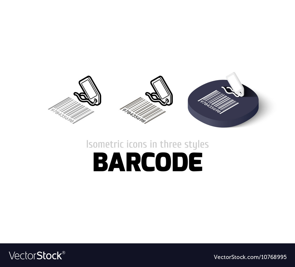 Barcode icon in different style