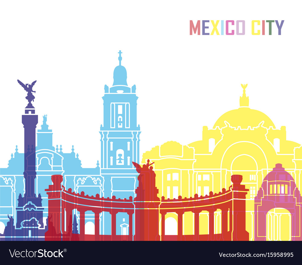 Mexico city skyline pop
