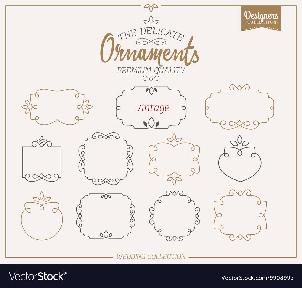 Ornamental Frame Template Set