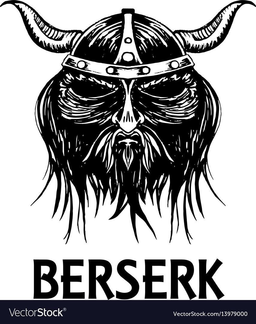 Berserk or berserker warrior head icon