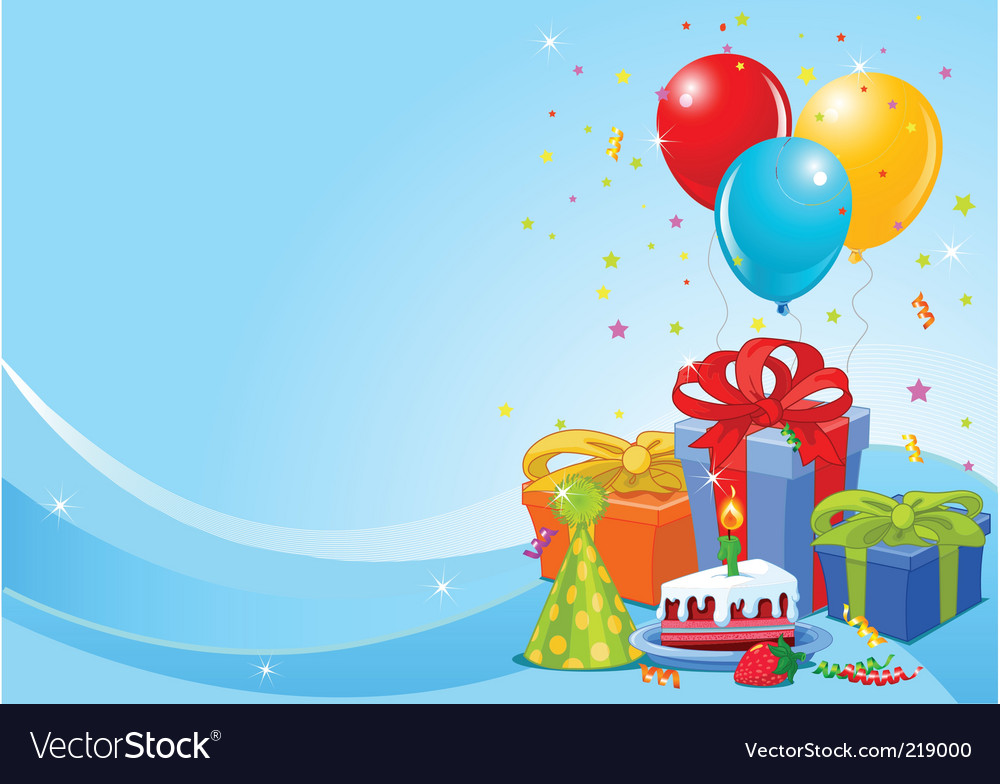 Birthday party background Royalty Free Vector Image Birthday Celebration Background Hd