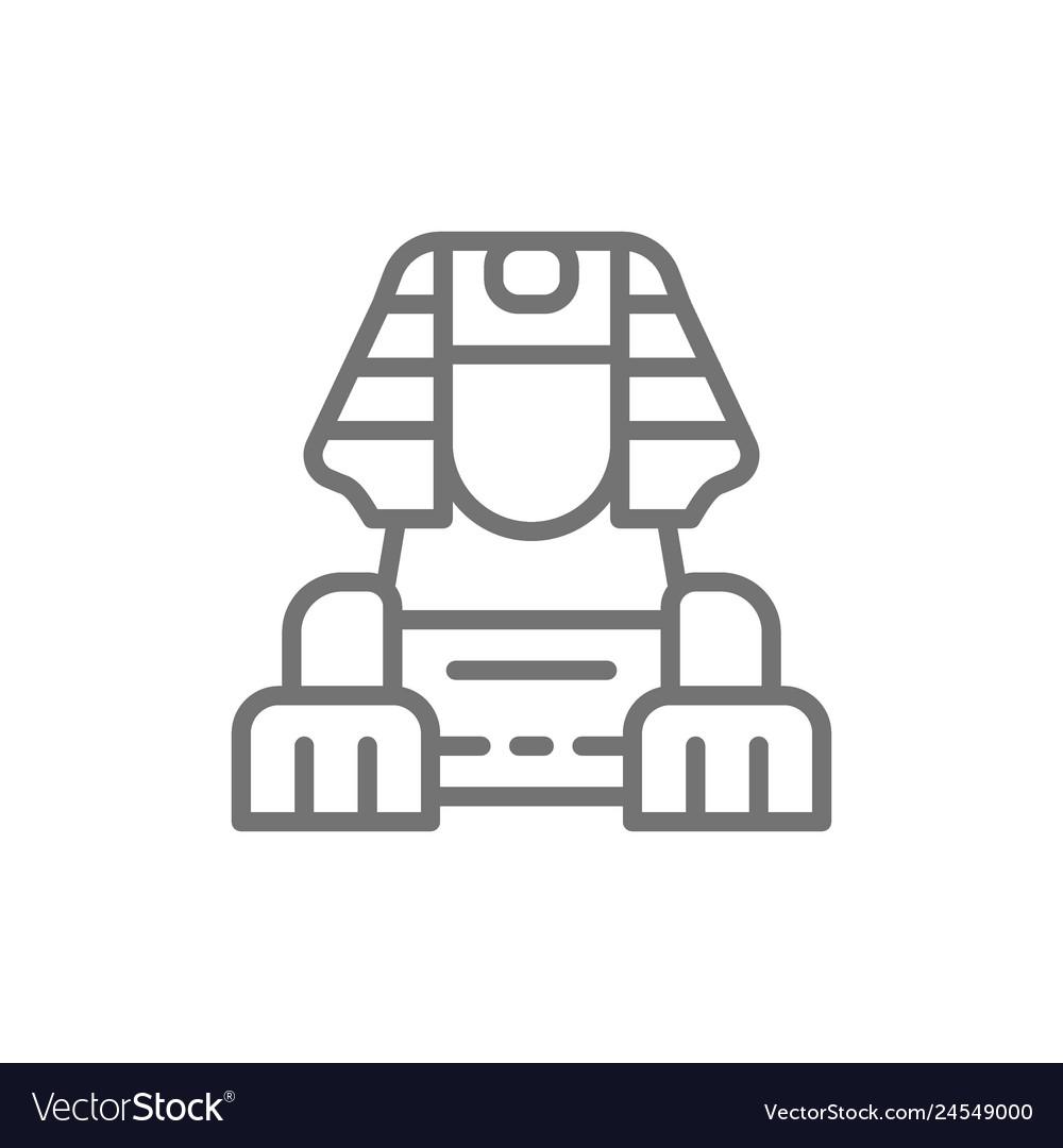 Egyptian sphinx line icon
