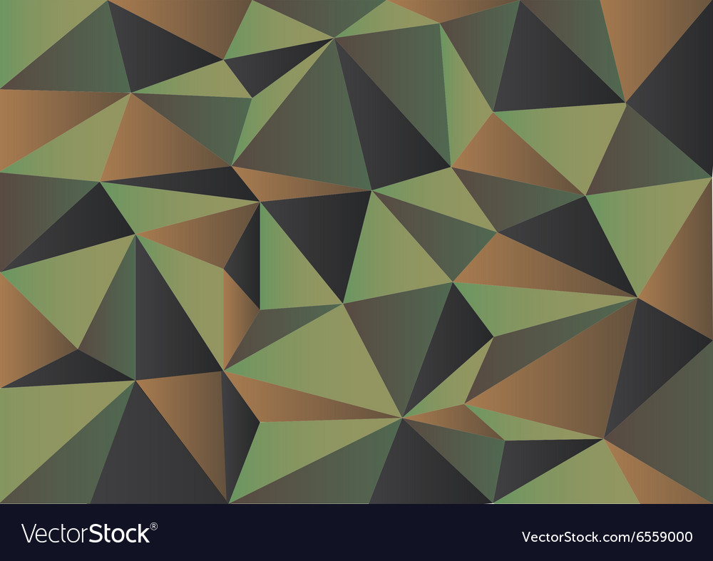 Green Camouflage Polygon Background