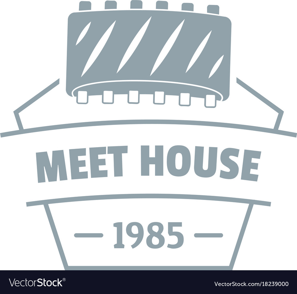 Meat house logo simple gray style