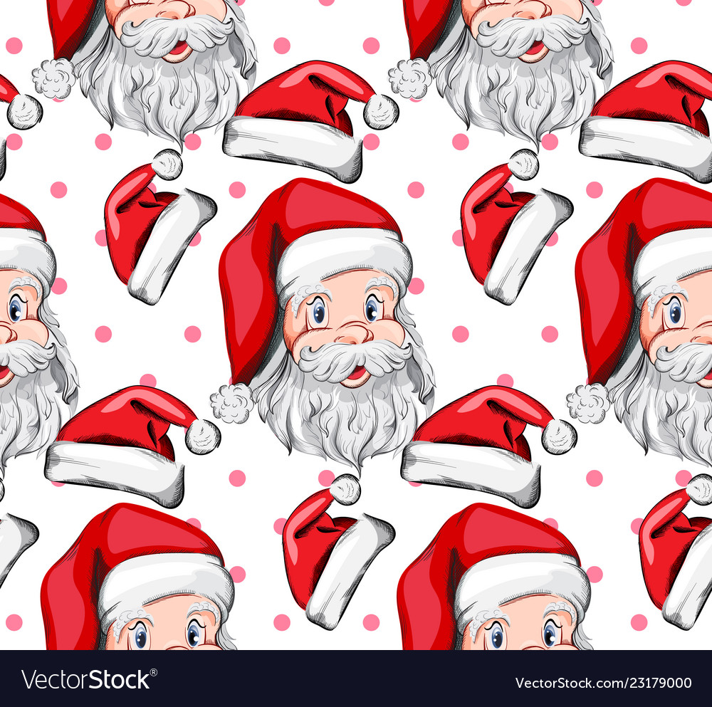 Santa claus pattern holiday eve background