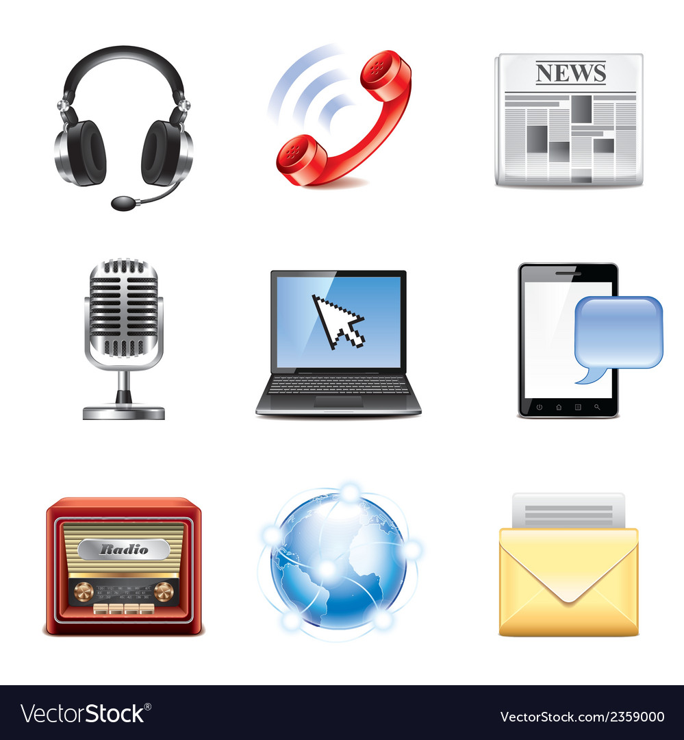 Set communication vector image