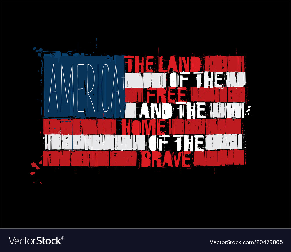 American text flag - america land of the free