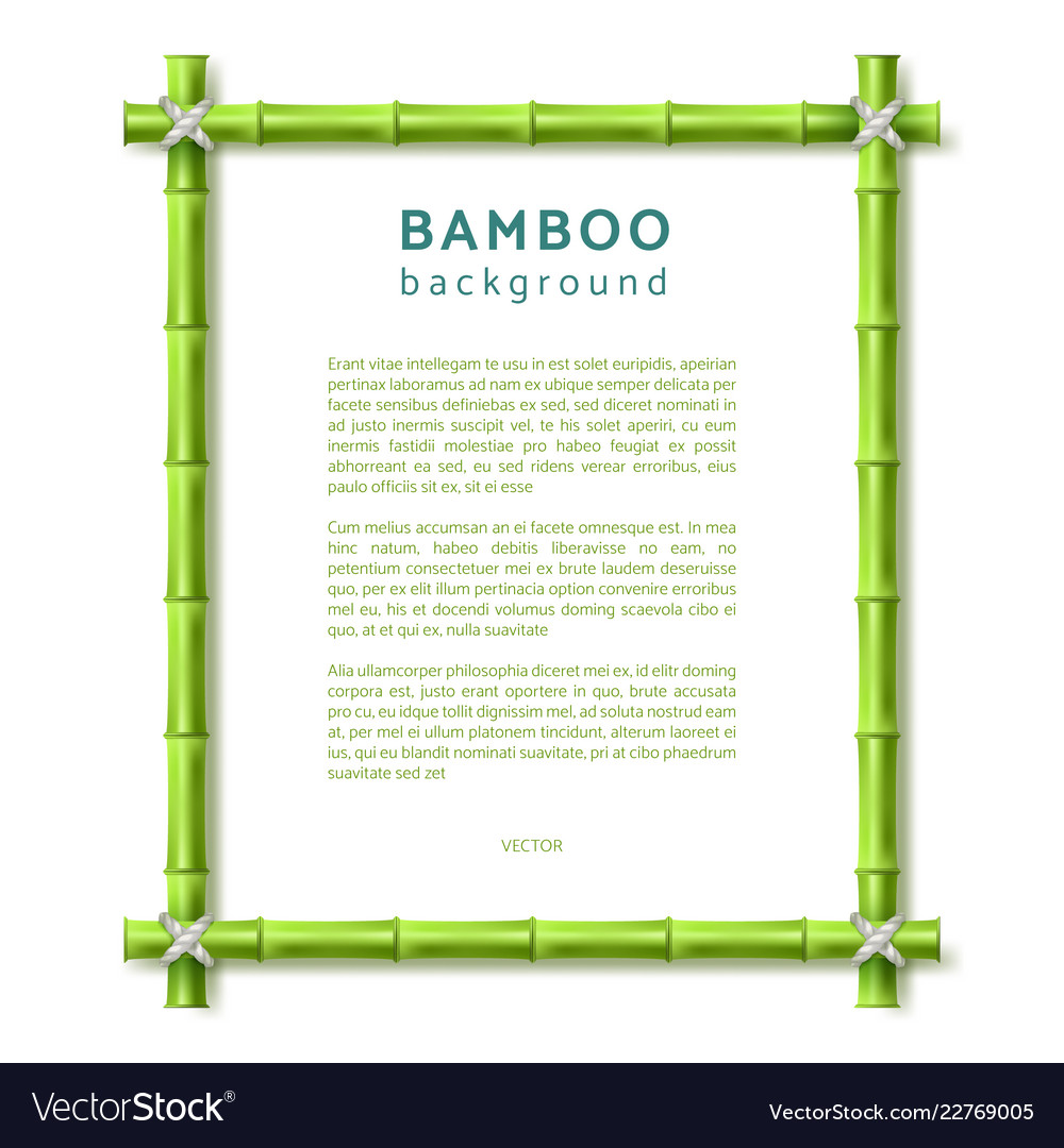 Bamboo frame eco spa resort background